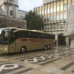 Gold Redwing coach at the Guildhall