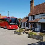 Redwing coach at The Walnut Tree Pup