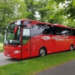 Redwing coach parked on road